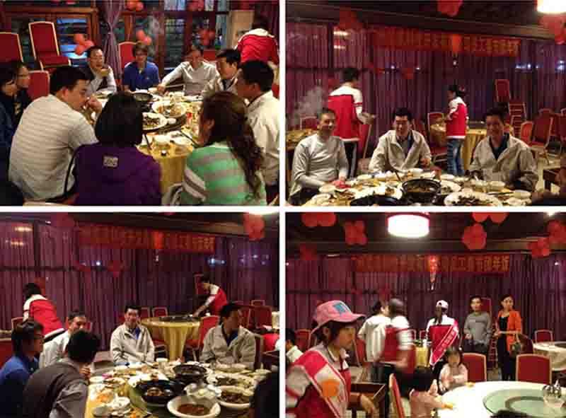 览讯员工春节团年饭