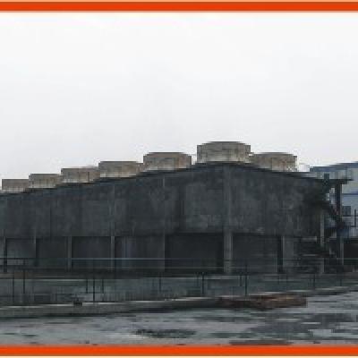 LTPWF 系列无填料射流水分散喷雾有底盘混凝土框架冷却塔